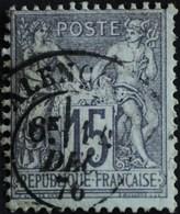 -Sage N°77 Type Ll.(CAD) O.ALENCON 14 DEC 1876.. - 1876-1898 Sage (Type II)