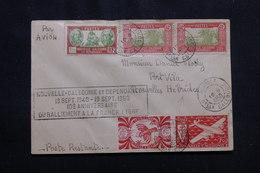 NOUVELLE CALÉDONIE - Enveloppe Commémorative De Nouméa Pour Port Vila En 1950, Affranchissement Plaisant - L 54360 - Cartas