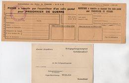 VP16.919 - FERE  EN  TARDENOIS  - S.N.C.F. Carte & Fiche Vierge D'un Colis Postal Pour Prisonnier De Guerre En Allemange - Transports