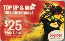 CARAÏBES  -  Prepaid  - Digicel - TOP UP § WIN This Christmas ! - $25 - Altri – America