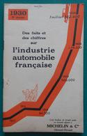 Brochure Des Éditions Michelin Et Compagnie - Faits Et Chiffres Sur L'Industrie Automobile Française En 1930 - Auto