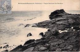 C P A  [29] Finistère >  SAINT GUENOLE PENMARCH VAGUE HEURTANT LES ROCHERS ENVOYEE A JEANNE LE HAVRE - Francia