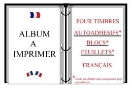 Albums De Timbres à Imprimer    AUTOADHÉSIFS OBLITÉRÉS   (Français) - Luchtpost