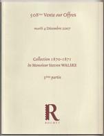 Collection 1870-71 De Steven Walske III, BALLON MONTÉS, SIÈGE DE PARIS, COMMUNE DE PARIS, ALSACE, Auction Catalogue - Catalogues For Auction Houses