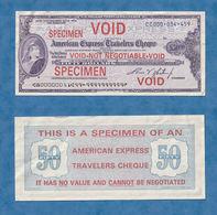 E18 - SPECIMEN American Express Travelers Cheque - Specimen