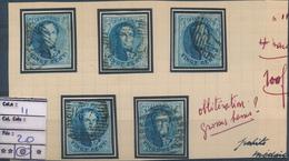BELGIUM BELGIQUE COB 11 USED SELECTION - 1858-1862 Médaillons (9/12)