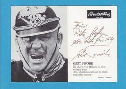 GERT FRÖBE Original Signed Photo AUTOGRAPHE / AUTOGRAMM  10/15 Cm - Autographes