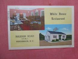 White House Restaurant   North Carolina > Raleigh > Ref 3922 - Raleigh