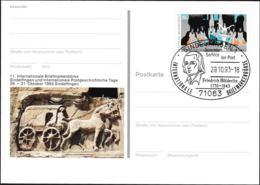 Germany Postal Stationary 1993 Ballet W/print 11. Intl. Briefmarkenbörse Sindelfingen - Used  (G107-41A) - [7] Federal Republic
