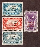 Sénégal  N°173/76 N* TB Cote 31 Euros !!! - Unused Stamps