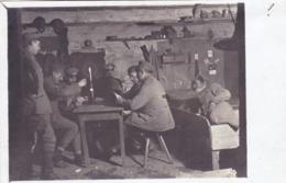 Militaria - Fotokarte - Deutsche Militärspielkarten - Carte Photo - Militaires Allemands Jouant Aux Cartes - Guerre 1914 - Guerre 1914-18