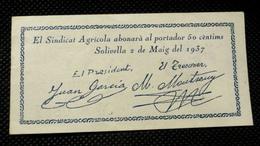 50 Centims - Serie Solivella - SPL/FDS - [ 3] 1936-1975 : Régimen De Franco