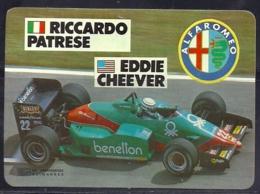 1986 Pocket Poche Calendar Calandrier Calendario Portugal Formula 1 Alfa Romeo - Riccardo Patrese - Eddie Cheever - Calendars