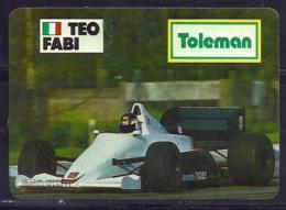 1986 Pocket Poche Calendar Calandrier Calendario Portugal Formula 1 Toleman - Teo Fabi - Small : 1981-90
