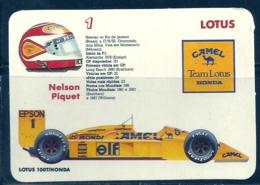 1989 Pocket Poche Calendar Calandrier Calendario Portugal Formula 1 Lotus - Nelson Piquet - Calendars
