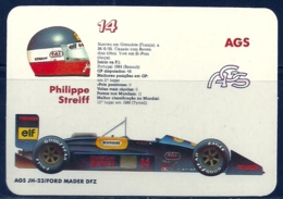 1989 Pocket Poche Calendar Calandrier Calendario Portugal Formula 1 AGS - Phillipe Streiff - Small : 1981-90
