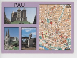 Pau (64) Plan N°51 Atelier Bordelais De Cartographie - Multivues - Pau