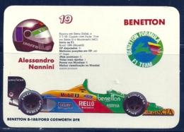 1989 Pocket Poche Calendar Calandrier Calendario Portugal Formula 1 Benetton - Alessandro Nannini - Small : 1981-90