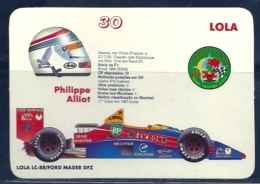 1989 Pocket Poche Calendar Calandrier Calendario Portugal Formula 1 Lola - Philipe Alliot - Small : 1981-90