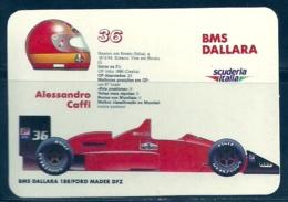 1989 Pocket Poche Calendar Calandrier Calendario Portugal Formula 1 BMS Dallara - Alessandro Caffi - Small : 1981-90