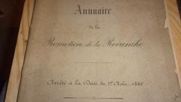 Rare Liste De Saint-Cyrien Promotion De LA REVANCHE 1870/1872  École Spéciale Militaire De Saint-Cyr EN DATE DE 1885 - Non Classificati