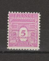 FRANCE / 1944 / Y&T N° 620 ** : Arc De Triomphe Unicolore 5c Rose X 1 - Unused Stamps