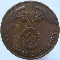 LaZooRo: Germany 1 Pfennig 1937 A XF / UNC - [ 4] 1933-1945 : Troisième Reich