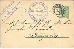 Ganzsache St. Michael Eppan Nach Margreid - 1850-1918 Imperium