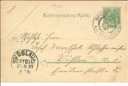 Ganzsache Weissenbach An Der Triesting Nach Vöslau 1907 - Briefe U. Dokumente