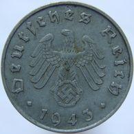 LaZooRo: Germany 10 Pfennig 1943 A XF / UNC - [ 4] 1933-1945 : Troisième Reich