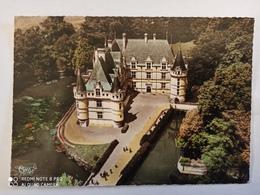 CPSM : AZAY-LE-RIDEAU (N° 16376) : Vue Aérienne : Le Château - Façade Nord Est - Azay-le-Rideau