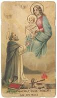 Santino Fustellato Regina Sacratissimi Rosarii Con Preghiera (1259) - Images Religieuses