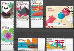 PHILATELIC EXHIBITIONS, 2019, MNH,  CHINA, PANDAS, DRAGONS, SHIPS, TEA, FLOWERS, YEAR OF PIG,  6v+S/SHEET - Philatelic Exhibitions