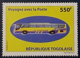 TOGO 2011- TRANSPORT BUS AUTOBUS AUTOCAR - VOYAGEZ AVEC LA POSTE - SHORT SET 1V 550 F - RARE - MNH - Busses