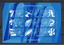 REPUBBLICA:  2006  FGL. GIOCHI  OLIMPICI  INVERNALI  -  N°  9  VAL.  -  SASS. 45 - Blocchi & Foglietti