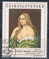 Czechoslovakia 1552 Used Woman Painting 1968 (MV0158) - Czech Republic
