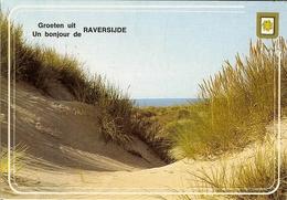 """CP De RAVERSIJDE """" Groeten Uit  / Un Bonjour De """" - Oostende"""