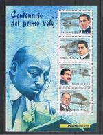 REPUBBLICA:  2003  FGL. PIONIERI  DELL' AVIAZIONE  -  €. 0,52 X 4  POLICROMO  -  SASS. 37 - Blocchi & Foglietti