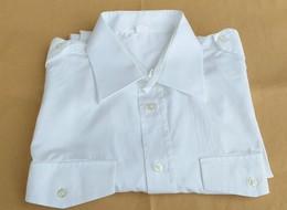 Camicia Bianca Maniche Lunghe Originale P.S. Con Logo Ricamato Senza Fregi Tg. 42 - Polizia