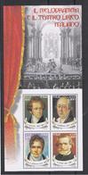 REPUBBLICA:  2001  FGL. IL  MELODRAMMA  -  £. 800 X 4  POLICROMO  -  SASS. 32 - Blocchi & Foglietti