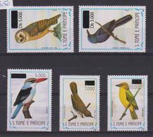 SAO TOME, ST THOMAS, 1999 And 2000, Birds Surcharged, MNH - Segler & Kolibris