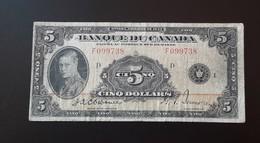 Canada 5 Dollars 1935 Osborne French - Canada