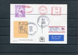 1977 Lundy Ponies Postcard. Ilfracombe / Fabian's Phantom Post Local, Statue Of Liberty, USA - Ortsausgaben