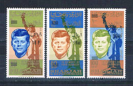 Sharjah C25-27 MNH Set JF Kennedy 1964 CV 5.00 (S1045)+ - Stamps
