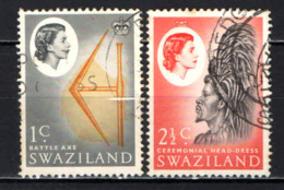 SWAZILAND - 1962 - BATTLE AXE, CEREMONIAL HEAD-DRESS - USATI - Swaziland (...-1967)