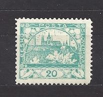 Czechoslovakia 1918 MNH ** Mi 4 A Gez. Sc 4 Hradcany At Prague C5 - Tchécoslovaquie