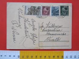 PC.3 ITALIA LUOGOTENENZA CARTOLINA POSTALE 1945 DEMOCRATICA 60 CENT + FR. AGGIUNTI AMALFI Da FONDOTOCE NOVARA 25/05/1947 - Storia Postale