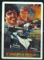 1984 1985 Pocket Poche Calendar Calandrier Calendario Portugal Formula 1 GP 70º Grand Prix De France N 5/12 - Calendars