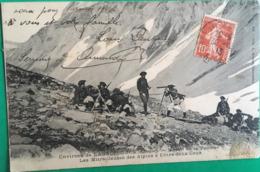 CPA,environs De Lanslebourg (Savoie,73) Massif De La Vanoise Les Mitrailleuses Des Alpins à Entre Deux Eaux,1913 - Autres Communes