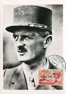 """Carte-maximum Avec Timbre Et Illust. """"Maréchal LECLERC"""" - Oblitération Temporaire ALGER 18.6.1957 - Algeria (1924-1962)"""